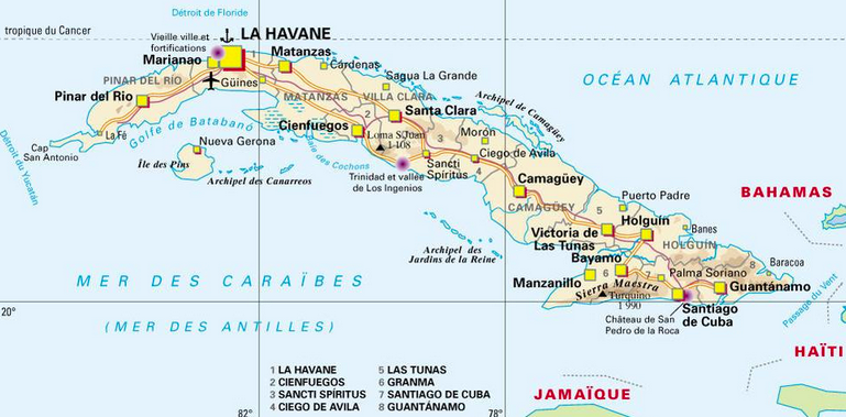 Carte Cuba Detaillee.Voyageurs Du Monde Conference Sur Cuba A Strasbourg